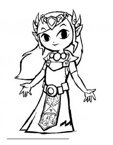 Dessin de Zelda gratuit à imprimer et colorier