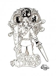coloriage-zelda-nintendo-4 free to print