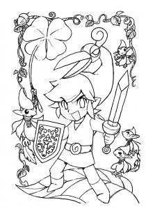 Coloriage de Zelda pour enfants