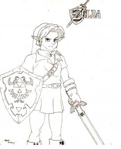 Image de Zelda à imprimer et colorier