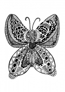 Coloriage papillon zentangle celine