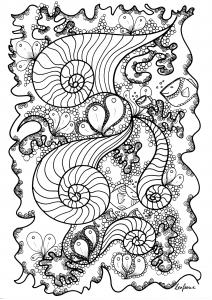 coloriage-poisson-par-zenfeerie free to print