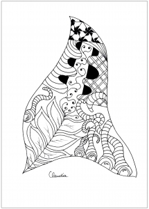 Coloriage zentangle simple 2 par claudia