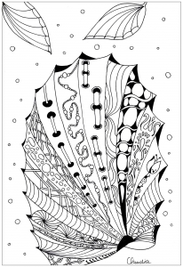 Coloriage zentangle simple 5 par claudia
