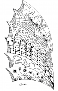 Coloriage zentangle simple 6 par claudia