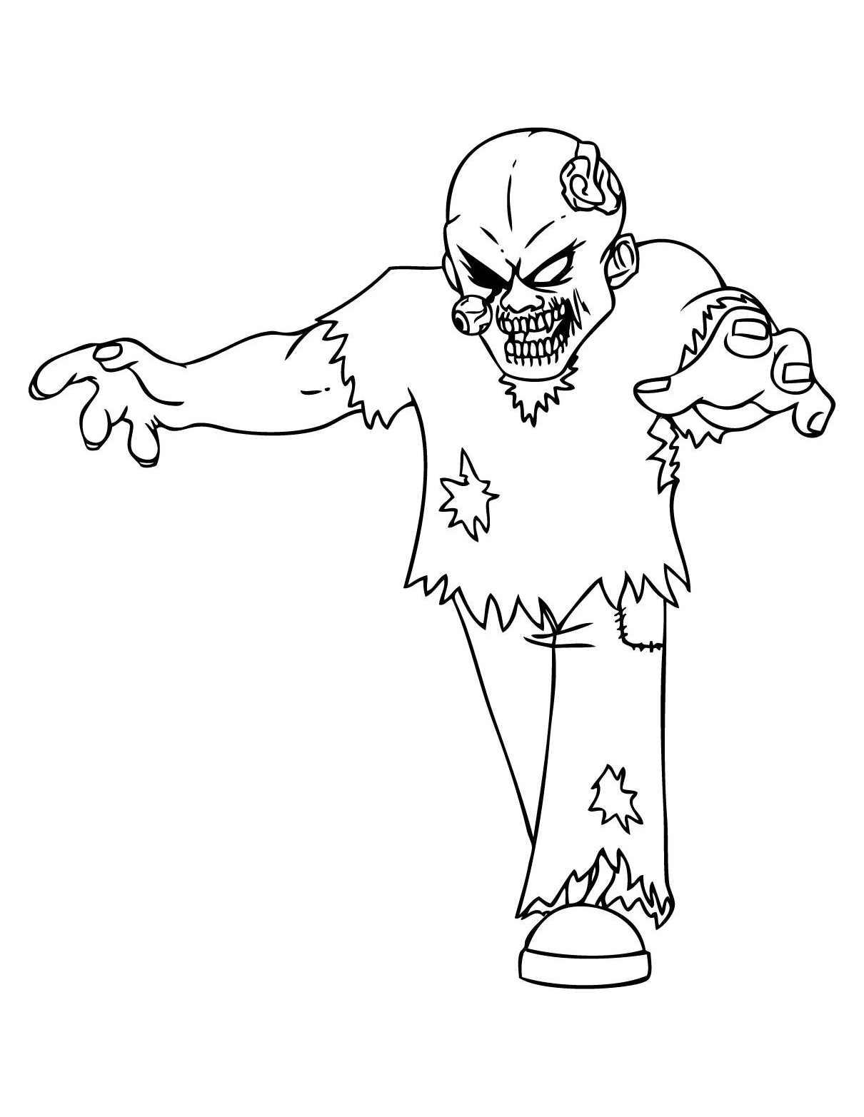 Zombies 2 coloriage de zombies coloriages pour enfants - Zombie dessin ...