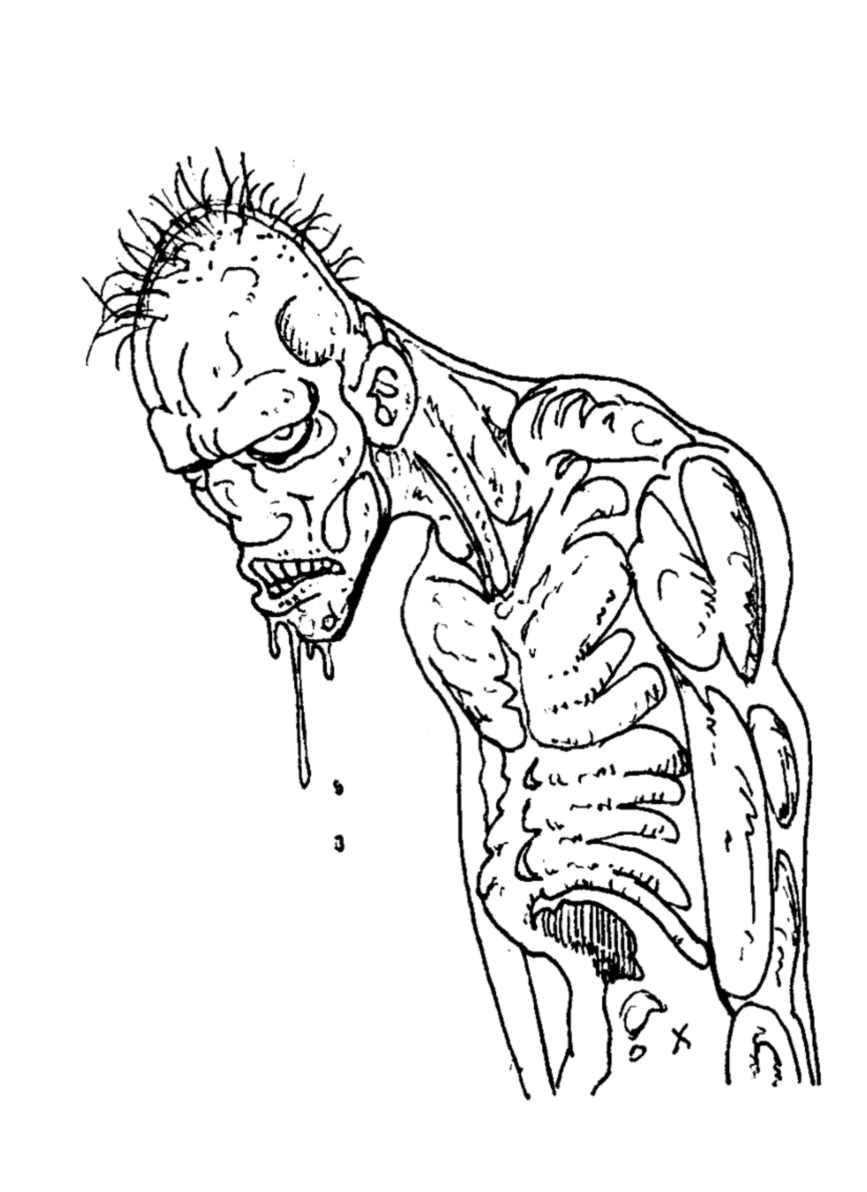 Zombies 7 coloriage de zombies coloriages pour enfants - Coloriage zombie ...