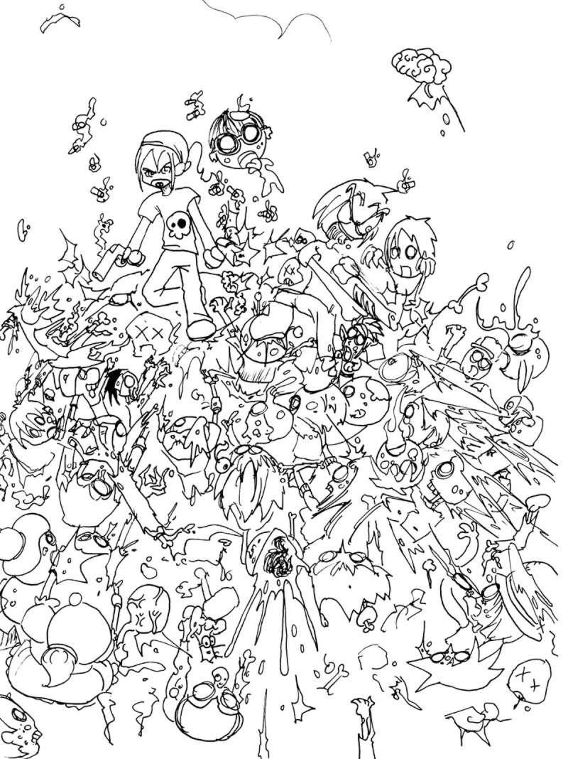 Zombies 8 Coloriage De Zombies Coloriages Pour Enfants