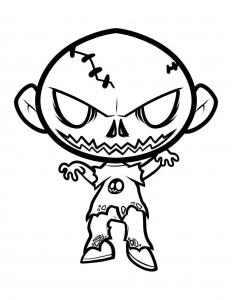 Image de zombie à imprimer et colorier