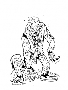 coloriage-zombies-4 free to print