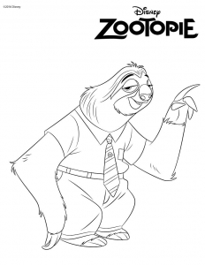 Coloriage zootopie flash