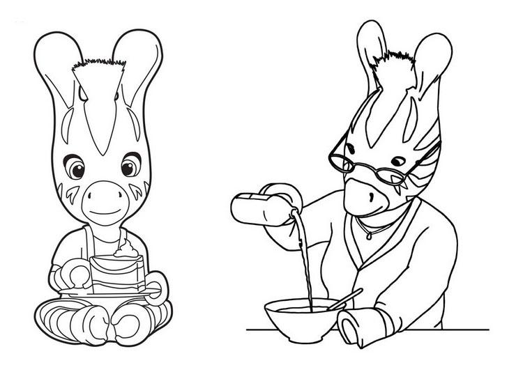 Coloriage Zebre.Zebre Zou 3 Coloriage Zou Coloriages Pour Enfants