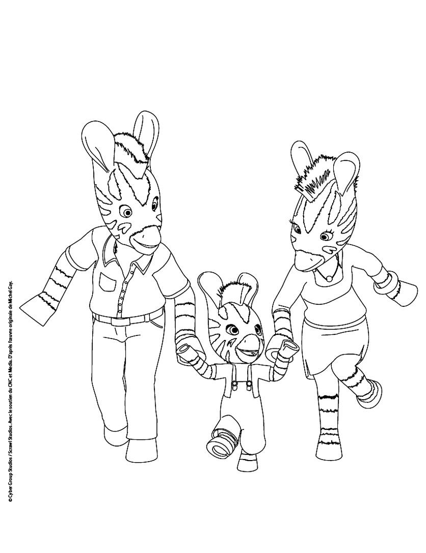 Zebre zou 7 coloriage zou coloriages pour enfants - Dessin pour maman et papa ...